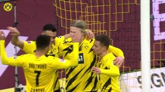 Le but de Reinier contre l'Arminia Bielefeld. Dugout