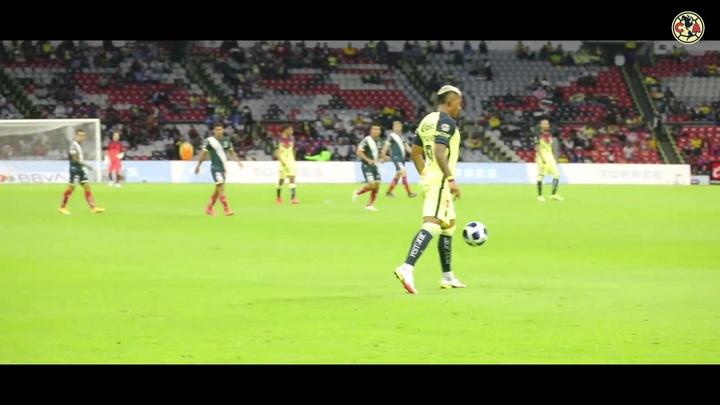 Salvador Reyes fue el autor del segundo gol del América. Dugout