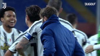 La Juve ganó 1-3 al Genoa. Captura/Dugout