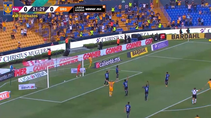 Tigres se impuso con contundencia a Querétaro. DUGOUT