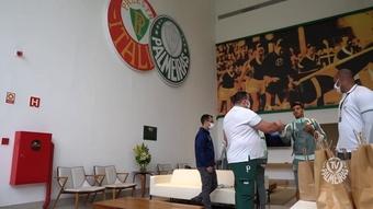 Bastidores da viagem do Palmeiras para encarar o Ceará no Brasileirão. DUGOUT