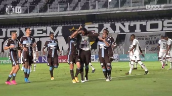 Lucas Piton and Raul Gustavo got the goals as Corinthians beat Santos. DUGOUT