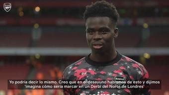 Saka anotó uno de los goles del triunfo del Arsenal. DUGOUT