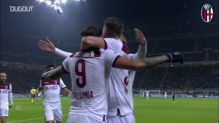 Santander porta il Bologna alla vittoria contro l'Inter. Dugout
