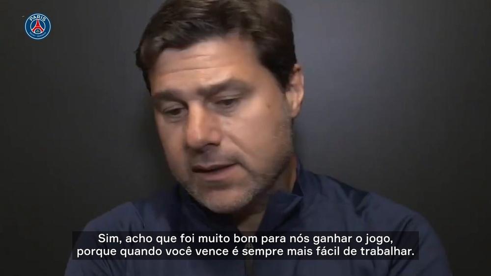 Pochettino exalta 'espírito de luta' do PSG após vitória nos acréscimos. DUGOUT