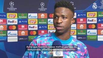 Vinicius Jr. fala em melhor jogo da temporada e vê Real confiante para El Clasico. DUGOUT
