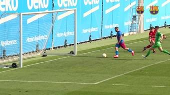Sergio Aguero features in training match against UE Cornella. DUGOUT