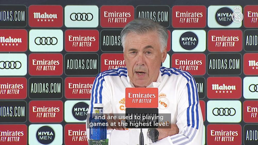 Ancelotti speaks before Villarreal's game. DUGOUT