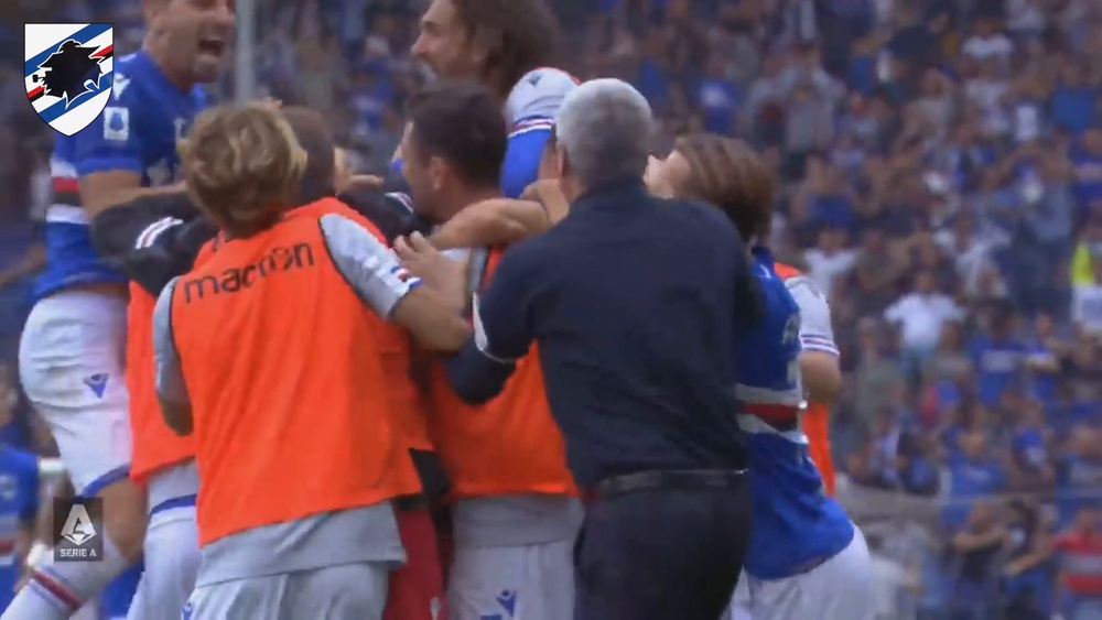 Candreva netted a brilliant goal as Sampdoria and Udinese drew. DUGOUT