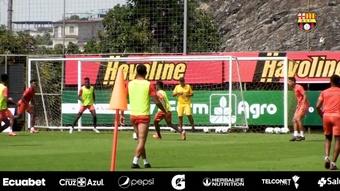 Barcelona SC se prepara para el 'Clásico' ante Emelec. Dugout