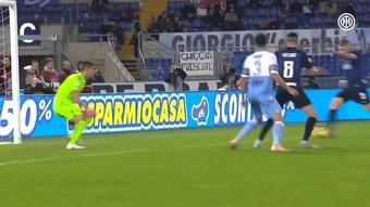 La doppietta di Icardi contro la Lazio. Dugout
