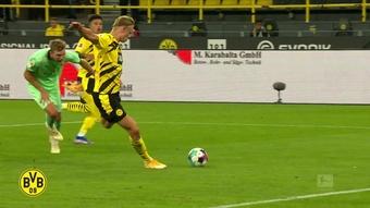 Gols de Haaland pelo Dortmund contra o Gladbach. DUGOUT