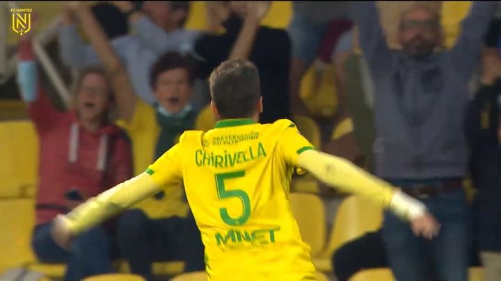 Chirivella marcó su primer tanto en el Nantes. DUGOUT
