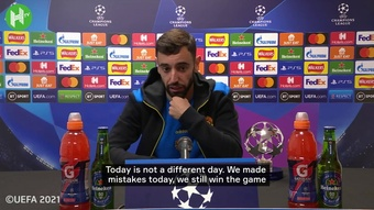 Bruno Fernandes admitted Man Utd needed to improve for Sunday. DUGOUT