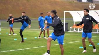RB Bragantino have been training ahead of their match againt Bahia. DUGOUT