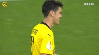Gio Reyna scored a lovely goal as Dortmund won 0-5 at Duisburg. DUGOUT