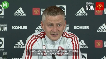 Solskjaer says Salah is very good, but that Cristiano is even better. DUGOUT