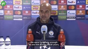 Guardiola analyzes City's visit to Paris. DUGOUT