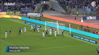 I gol dell'Inter nei minuti finali contro la Lazio. Dugout