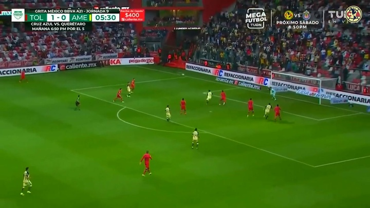 Toluca took home the points against Club America. DUGOUT