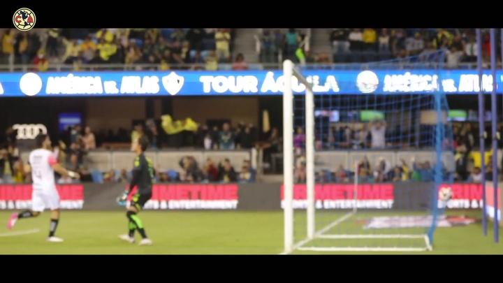 VÍDEO: la emoción de Madrigal tras marcar su primer gol con el América. DUGOUT