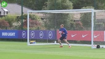 Inglaterra treina para encarar a Hungria nas Eliminatórias da Copa. DUGOUT