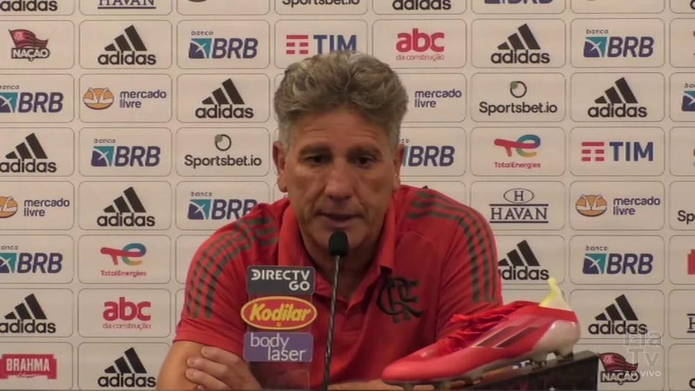 Renato Gaúcho elogia desempenho do Flamengo em vitória contra Fortaleza. DUGOUT
