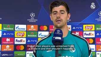 Thibaut Courtois spoke Real Madrid's defeat to Sheriff. DUGOUT