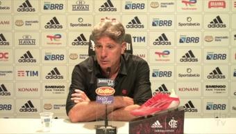 Renato Gaúcho fala da ausência de Arrascaeta e improvisos no Flamengo. DUGOUT