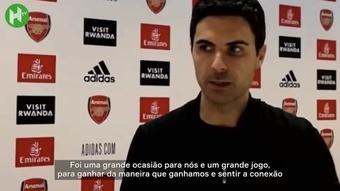 Confira fala do treinador do Arsenal após vitória por 3 a 1. DUGOUT