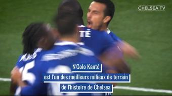 La carrière de N'Golo Kanté avec Chelsea. DUGOUT