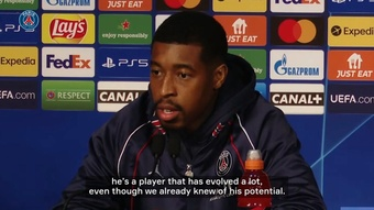 Presnel Kimpembe spoke ahead of PSG's game with Leipzig. DUGOUT