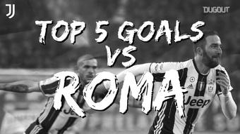 I migliori cinque gol segnati dalla Juventus contro la Roma. Dugout