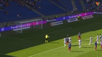 Arthur Cabral scored four times as Basel beat Servette 5-1. DUGOUT