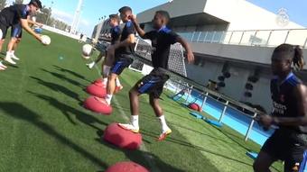 Camavinga si allena per la partita contro il Maiorca. Dugout