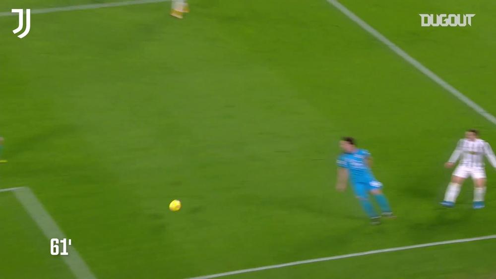 Morata, Chiesa e CR7 segnano contro lo Spezia. Dugout