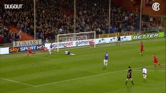 Il gol di Palacio contro la Samp. Dugout