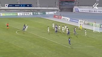 Chungnam Asan came from behind to beat Gyeongnam 2-1. DUGOUT