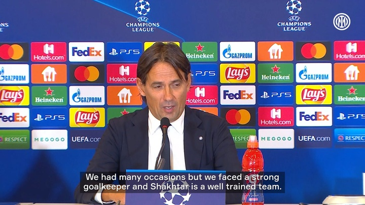 Simone Inzaghi analysed Inter's goalless draw with Shakhtar. DUGOUT