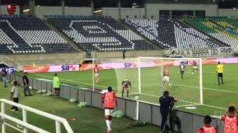 O gol da vitória do Flamengo sobre o ABC na Copa do Brasil 2021. DUGOUT