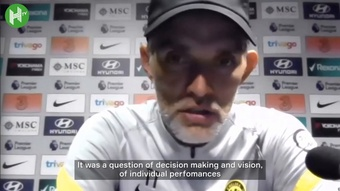 Thomas Tuchel spoke after Chelsea's loss to Man City. DUGOUT