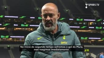 Nuno comemora goleada na  Europa Conference League. DUGOUT