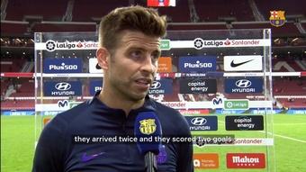 Pique speaks following Barça's defeat. DUGOUT