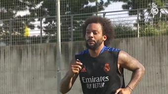 Marcelo é um dos destaques em treino do Real Madrid. DUGOUT