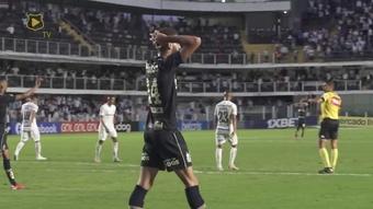 Gol da vitória do Santos sobre o Grêmio na Vila Belmiro. DUGOUT