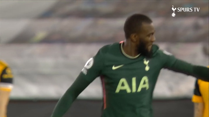 Ndombele gave Spurs the perfect start in a 1-1 draw at Wolves. DUGOUT
