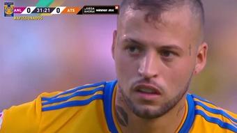 Nico Lopez scored a penalty as Tigres drew with Atlas. DUGOUT