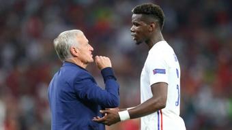 France coach Didier Deschamps and midfielder Paul Pogba. GOAL