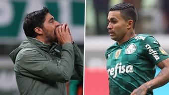Substituído, Dudu se revolta com Abel Ferreira.