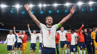 Harry Kane is one goal off Rooney's international goalscoring tally. AFP